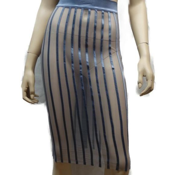 416fed439d La Perla Silk Sheer Pencil Skirt Women Size 4